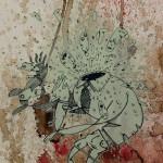 Serigrafia Omino con testa esplosiva Mrfijodor